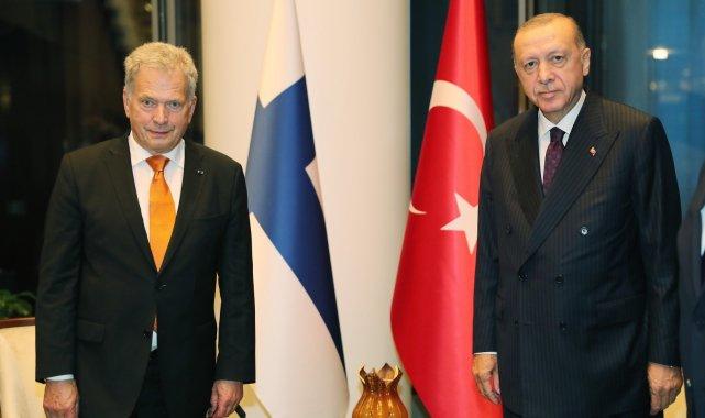Cumhurbaşkanı Erdoğan, Finlandiya Cumhurbaşkanı ile görüştü