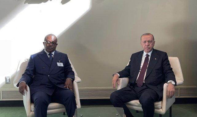 Cumhurbaşkanı Erdoğan, Gine Cumhurbaşkanı ile bir araya geldi
