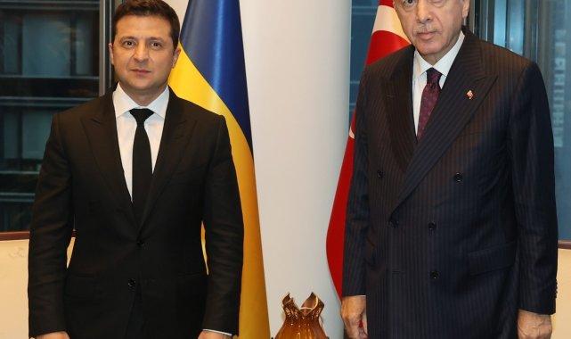 Cumhurbaşkanı Erdoğan, Ukrayna Devlet Başkanı ile görüştü