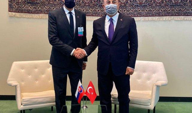 Dışişleri Bakanı Çavuşoğlu, Slovakya Dışişleri Bakanı Korcok ile bir araya geldi